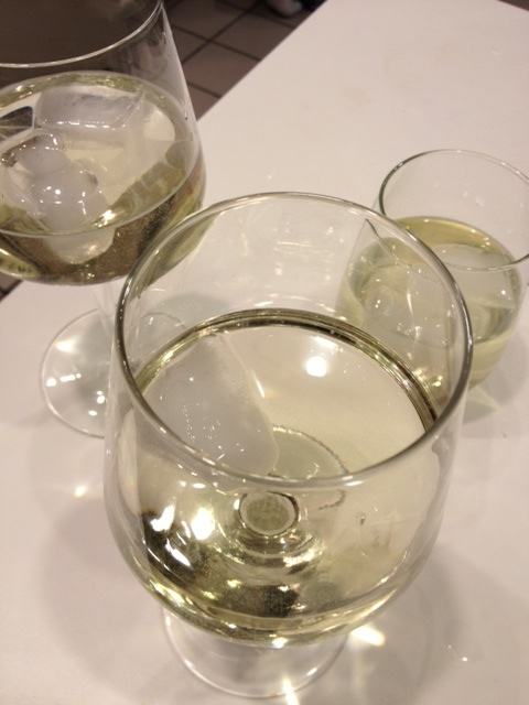 3 big glasses of sauvignon!